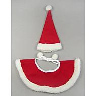 Недорогие Бижутерия и аксессуары для собак-Собака Костюмы Платки и шапочки Рождество Одежда для собак Очаровательный Косплей Рождество Однотонный Красный Костюм Для домашних