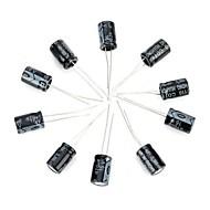DIY 16V / 470UF Aluminum Electrolytic Capacitor - Black (10PCS)