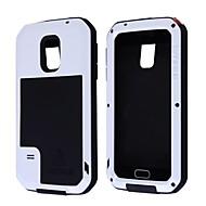 olcso Galaxy S5 tokok-Mert Samsung Galaxy tok Ütésálló / Vízálló / Porálló Case Teljes védelem Case Páncél Fém Samsung S5