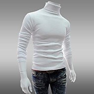 cheap -Men's Daily / Sports / Weekend Vintage Solid Colored Long Sleeve Slim Regular Pullover Purple / Red / Light gray L / XL / XXL