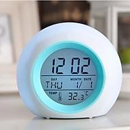 abordables Coway-mini antorcha creativa colorido reloj despertador luminoso comodo para luz nocturna llevado
