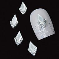 10kpl valkoinen Marquise 3d tekojalokivi DIY metalliseos tarvikkeet kynsikoristeet koriste