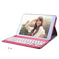 para el caso de la cubierta de la caja color sólido cuero de la pu para teclados ipad