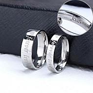 Χαμηλού Κόστους Εξατομικευμένα αξεσουάρ ένδυσης-εξατομικευμένο δώρο ζευγάρι δαχτυλίδια από ανοξείδωτο χάλυβα χαραγμένα κοσμήματα