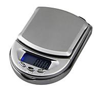 abordables Medidores y Balanzas-Mini escala de la joyería del bolsillo escala electrónica 500g / 0.1g, 10x7x2.5cm plástico
