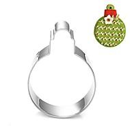 economico Cucina e utensili da cucina-decorazione bolla forma di palla di Natale cookie cutter, l 7,6 centimetri 6,6 centimetri x La xh 2cm, in acciaio inox