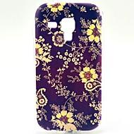 Для Кейс для  Samsung Galaxy С узором Кейс для Задняя крышка Кейс для Цветы TPU Samsung Trend Duos