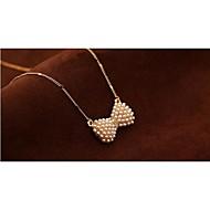 abordables -Mujer Perla Brillante Chapado en Oro Legierung Collares con colgantes Collar con perlas Y-Collares - Perla Brillante Chapado en Oro