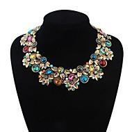 женские модные два слоя цветочные кластера нагрудник заявление ожерелье