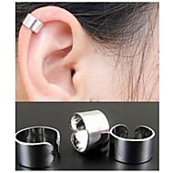 여성용 링 귀걸이 귀는 귀걸이 숙녀 미니멀 스타일 패션 보석류 블랙 / 실버 / 골든 제품 결혼식 파티 일상 캐쥬얼