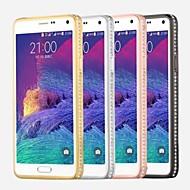 Для Samsung Galaxy Note Стразы Кейс для Задняя крышка Кейс для Один цвет PC Samsung Note 4