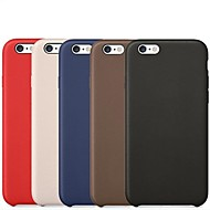 billige iPhone-etuier-For iPhone 6 etui iPhone 6 Plus etui Andet Etui Bagcover Etui Helfarve Hårdt Kunstlæder for iPhone 6s Plus/6 Plus iPhone 6s/6
