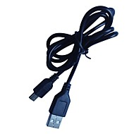 abordables Accesorios para Tablet y PC-0,8 m 3 pies de mini USB 2.0 macho a cable macho negro USB2.0