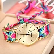 voordelige Bohémien horloges-Geneva Dames Kwarts Armbandhorloge Vrijetijdshorloge Stof Band Bohémien Meerkleurig