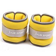 ネオプレン黄色の手首の運動を実行するための鉄砂で満たされた/アンクルウェイト(0.5キロペア)1キロセット