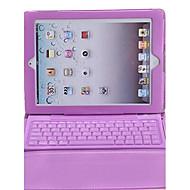abordables Teclados para iPad-bluetooth 3.0 keyboard pu funda de cuero para ipad 2/3/4 ipad teclados