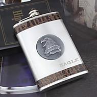 Paslanmaz çelik cep şişesi 9oz kişiselleştirilmiş hediye gümüş - kartal