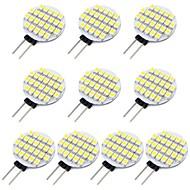 お買い得  LED スポットライト-10個 1.5 W 118 lm G4 LED2本ピン電球 24 LEDビーズ SMD 3528 温白色 / クールホワイト 12 V / # / RoHs