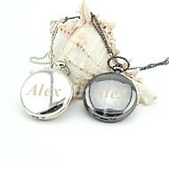 halpa Personalisoidut kellot-yksilöllisiä retro sileä taskukellon emali metalli kaulanauhat