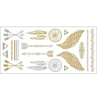 1pc goud en zilver metallic ketting armband tattoo sticker