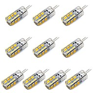 1.5W G4 LED Corn Lights T 24 leds SMD 2835 130-150lm Warm White White Decorative DC 12