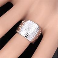Χαμηλού Κόστους -Γυναικεία Δακτύλιος Δήλωσης Επιμεταλλωμένο με Πλατίνα Επιχρυσωμένο κυρίες Μοντέρνα Μοδάτο Δαχτυλίδι Κοσμήματα Ασημί / Χρυσαφί Για Γάμου Πάρτι Καθημερινά Causal Αθλητικά Ρυθμιζόμενο