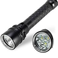 LED zseblámpák / Kézi elemlámpák (Vízálló) - LED 1 Mód 4000/1800 Lumen 18650 Cree XM-L T6 / Cree XM-L U2 Akkumulátor - Több funkciós
