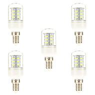 お買い得  LED コーン型電球-5個 3W 450 lm E14 LEDコーン型電球 24 LEDの SMD 5730 ナチュラルホワイト AC 220-240V