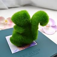 お買い得  -車や家の装飾のためのかわいい緑の人工芝リス