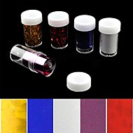 abordables Adhesivos para Uñas-5pcs lámina láser decoraciones de uñas pegatinas de uñas estrelladas (150x4x0.1cm)