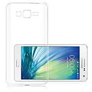 Для Кейс для  Samsung Galaxy Ультратонкий / Прозрачный Кейс для Задняя крышка Кейс для Один цвет TPU Samsung A3