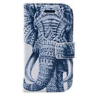 Для Кошелек / Бумажник для карт / со стендом / Флип / С узором Кейс для Чехол Кейс для Слон Твердый Искусственная кожа Samsung S3 Mini