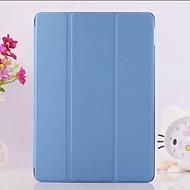 billiga Tillbehör till iPad-fodral Till iPad Air 2 med stativ Origami Fodral Ensfärgat PU läder för iPad Air 2