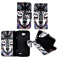 voordelige Hoesjes&covers-hoesje Voor LG L90 LG L70 LG LG hoesje Kaarthouder Portemonnee met standaard Flip Volledig hoesje dier Hard PU-nahka voor