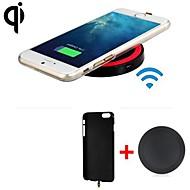 billige -qi standard trådløse oplader modtager tilbage dække + trådløs sender til iphone 6 / iPhone 6s