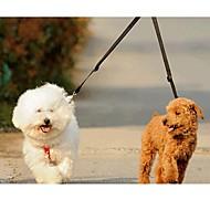 Szempillák Dupla póráz kutyáknak Dupla Egyszínű Műanyag