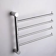 cheap Bathroom Gadgets-Towel Bar Contemporary Aluminum 1 pc - Hotel bath 4-towel bar