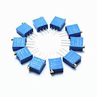 זול חלקי DIY-קוצצי 3296 דיוק גבוה 104 100k פוטנציומטר נגד משתנה אוהם - כחול (10 יח ')
