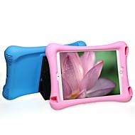 Недорогие Гаджеты для iPad-Кейс для Назначение iPad Air 2 Защита от удара со стендом Чехол Сплошной цвет ТПУ для iPad Air 2