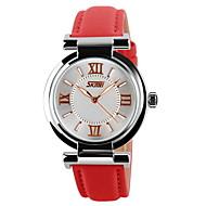 Χαμηλού Κόστους Επώνυμα ρολόγια-SKMEI Γυναικεία Μοδάτο Ρολόι Καθημερινό Ρολόι Χαλαζίας Γιαπωνέζικο Quartz Καθημερινό Ρολόι Δέρμα Μπάντα Μαύρο Λευκή Μπλε Κόκκινο Ροζ