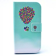 Balloon House Pattern PU Leather Full Body Case with Card Slot for Samsung Galaxy Core Plus G350