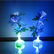 Optical Fiber Flowers Colorful Daffodils Vase LED Night Light