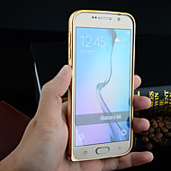 tanie Etui / Pokrowce do Samsunga Galaxy S-Kılıf Na Samsung Galaxy Samsung Galaxy Etui Other Ramka ochronna Solid Color Aluminium na S6