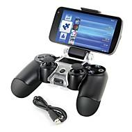 스마트 폰 PS4 컨트롤러 게임 패드에 대한 브래킷 저장 홀더 + 충전 케이블을 장착