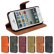 Назначение iPhone 8 iPhone 8 Plus Кейс для iPhone 5 Чехлы панели Бумажник для карт со стендом Флип Матовое Чехол Кейс для Сплошной цвет