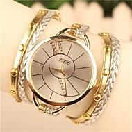 preiswerte Tolle Angebote auf Uhren-Damen Quartz Armband-Uhr Schlussverkauf Leder Band Böhmische Kleideruhr Modisch Weiß Blau Braun Grün Gold Rose
