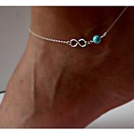 Femme Turquoise Bracelet de cheville Turquoise Mode Bracelet de cheville Bijoux Argent Pour Soirée Quotidien Décontracté
