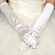 Недорогие Перчатки и рукавицы-Сатин До плеча Перчатка Вечерние перчатки