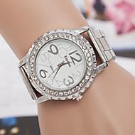 billige -yoonheel Dame Hverdagsklokke Simulert Diamant Klokke Moteklokke Quartz sveitsisk Designer Imitasjon Diamant Metall Band Sølv Gylden Rose