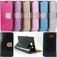 お買い得  Samsung 用 ケース/カバー-のために Samsung Galaxy ケース カードホルダー / スタンド付き / フリップ ケース フルボディー ケース キラキラ PUレザー Samsung S6 edge